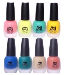 Makeup Mania Velvet Nail Paint Set of 8 Premium Nail Polish Multicolor Combo Matte 96 ml Pack of 8