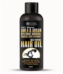 Optimum Organics 100% Natural Amla & Argan Oil With Onion, Bhringraj, Hibiscus, Olive For Hair Growth 100 ML