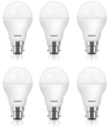 Philips 8W LED Bulbs Cool Day Light - Pack of 6