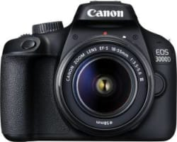Canon EOS 3000D DSLR Camera Single Kit with 18-55 lens (16 GB Memory Card & Carry Case) Black