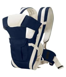 Eco Shopee Adjustable Hands-Free 4-in-1 New born Baby Carrier with Belt (Navy blue)