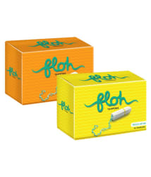 FLOH FDA Approved Regular & Super Tampons Pack of 2 (20 Pieces)
