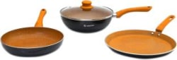 Wonderchef Sakura Induction Bottom Cookware Set Aluminium, 3 - Piece