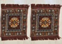 Purav Light Cotton Prayer Mat Brown, Medium