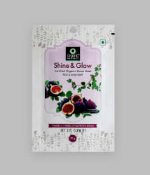 Organic Harvest Shine & Glow Face Mask Sheet Figs & Gold Dust 60 ml Pack Of 3