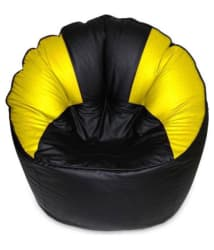 Caddy Full Artificial Leather Sofa Mudda Black Yellow Bean Bag Cover Jumbo/Sofa Chair - Buy Caddy Full Artificial Leather Sofa Mudda Black Yellow Bean Bag Cover Jumbo/Sofa Chair Online at Best Prices in India on Snapdeal