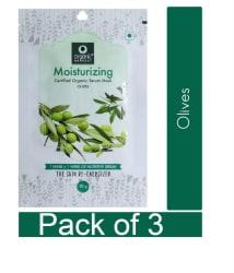 Organic Harvest Moisturizing Olive Face Mask Sheet 60 ml Pack Of 3
