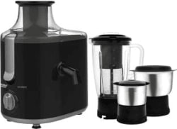 Maharaja Whiteline Montero (JX-126) 550 W Juicer Mixer Grinder Black, Grey, 3 Jars