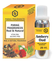 Parag Fragrances Ambery Oud Attar 25ml Value Pack Alcohol Free and Long Lasting