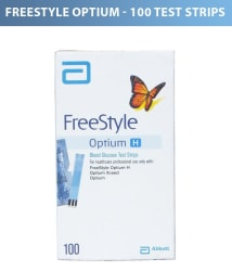 Abbott Freestyle Optium H Glucometer Strip 100T 80114-78 May 2020