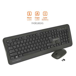 Amkette Wi-Key Plus Black Wireless Keyboard Mouse Combo