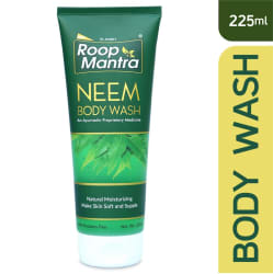 Roop Mantra Body Wash 225ml (Neem Body Wash for Men & Women, Parabens Free, Helpful to Prevents Skin Infections, Dryness)