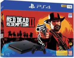 Sony PlayStation 4 (PS4) Slim 1 TB with Red Dead Redemption 2 Jet Black