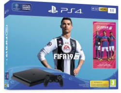 Sony PlayStation 4 (PS4) 1 TB with FIFA 19 Jet Black