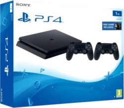 Sony PlayStation 4 1 TB with The Last of Us Jet Black, Extra Dual Shock 4 Controller
