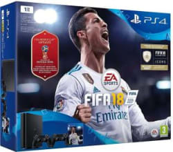 Sony PlayStation 4 (PS4) Slim 1 TB GB with Fifa 18 World Cup Jet Black