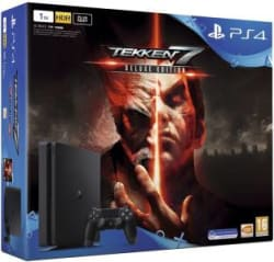 Sony PlayStation 4 (PS4) Slim 1 TB with Tekken 7 (Deluxe Edition) Jet Black