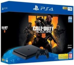 Sony PlayStation 4 (PS4) Slim 1 TB with Call of Duty: Black Ops 4 Jet Black