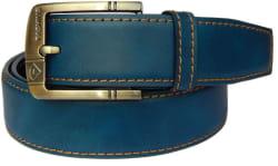 Fashius Men Casual Blue Genuine Leather Belt