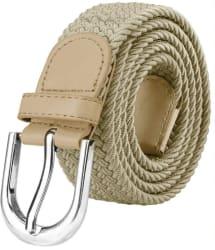 ZORO Women Casual Beige Canvas Belt