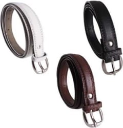 Sulit Women Casual White, Brown, Black Artificial Leather Belt