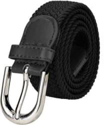 ZORO Women Casual Black Canvas Belt