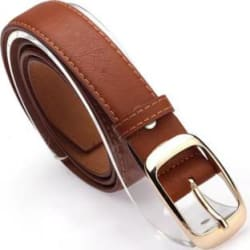 COST TO COST Women Casual Brown Artificial Leather Belt