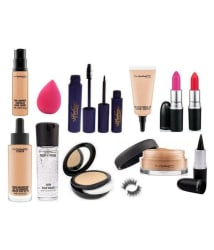 Mac Lipstick Make Up Professional Combo Pack Of 13 Makeup Kit 75 ml