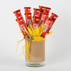 Kit Kat Chocolates Vase Arrangement