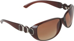 Amour Oval Sunglasses Brown