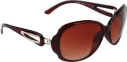 Zyaden Over-sized Sunglasses(Brown)