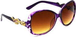 Hrinkar Over-sized Sunglasses Brown, Clear
