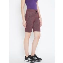 C9 Airwear Womens Cycling Short For Zym Yoga Exercise (CZ1704_ Maroon), xl