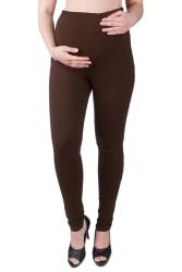MomToBe Cotton Silk Maternity Brown Leggings