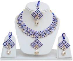 Jewels Guru Alloy Jewel Set White, Blue