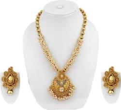 Jewels Guru Alloy Jewel Set Gold
