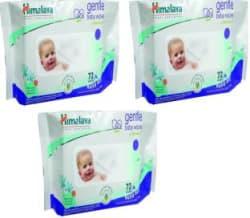 Himalaya Herbals Gentle Baby Wipes (72 Pcs x 3 Pack) 3 Pieces