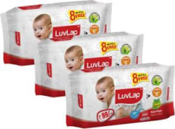 LuvLap Paraben Free Baby Wet Wipes with Aloe Vera 240 Pieces