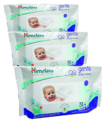 Himalaya Baby Care Wipes (72 Count, Pack of 3)