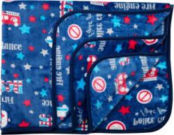 LuvLap Printed Crib AC Blanket Polyester, Blue