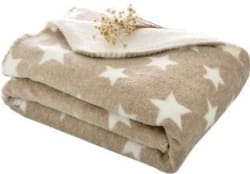 My New Born Printed Crib AC Blanket Cotton, Brown