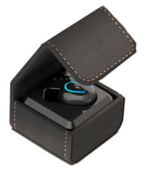 Life Like TWS WITH LEATHER CHAGING BOX Bluetooth Headset - Black