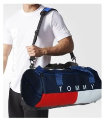 Tommy Hilfiger Medium PU Leather Gym Bag Travel Duffle Bag Cross Bag Leather Bag Men Man Side Bag
