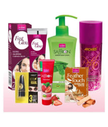 Vi-John Women Best Body Kit-Deo/kajal HR/Fast Glow Cream/Body Lotion/ Face Wash 21 ml Pack of 6