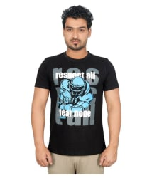 Vector X VTC-003-A Men s Round Neck Black Cotton T-Shirt