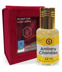 Parag Fragrances Ambery Chandan Attar 12ml (Velvet Giftset Pack) 0% Alcohol & Long Lasting