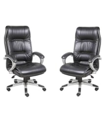 High Back Leatherette Office Chair Combo in Black - Buy High Back Leatherette Office Chair Combo in Black Online at Best Prices in India on Snapdeal