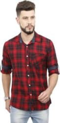 Rope Men Checkered Casual Red, Black Shirt