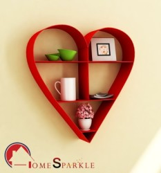 Home Sparkle Iron Wall Shelf Number of Shelves - 1, Red
