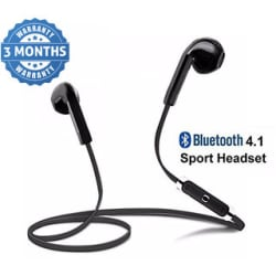 Wireless Bluetooth In the Ear V4.1 Stereo Headset with Mic Noise Cancelling Sweatproof Sports (Multicolour)